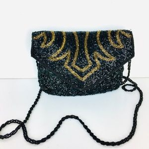 VTG La Regale Art Deco Beaded Crossbody Purse
